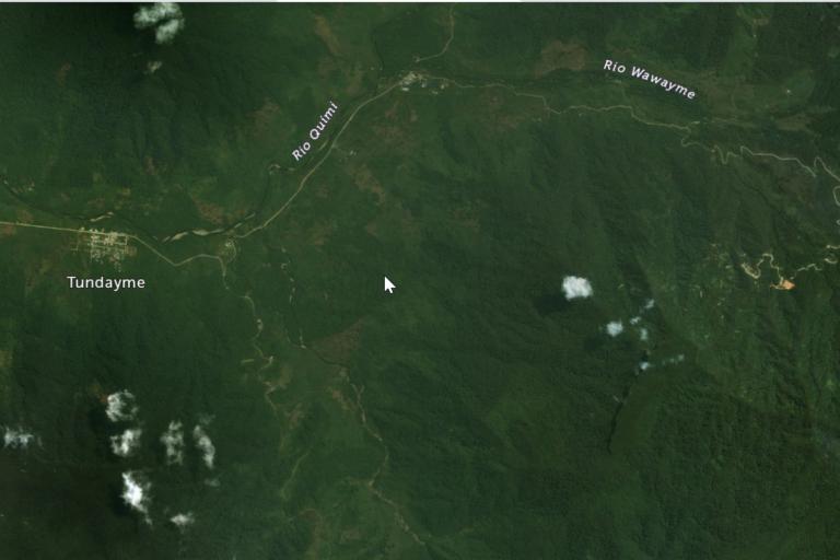 Imagen satelital (2009) de la zona donde más tarde se construiría el proyecto Mirador. Foto: Google Earth.