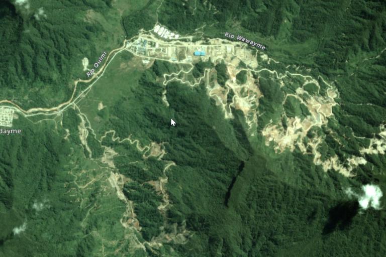 Imagen satelital del proyecto Mirador en 2017. Foto: Google Earth.