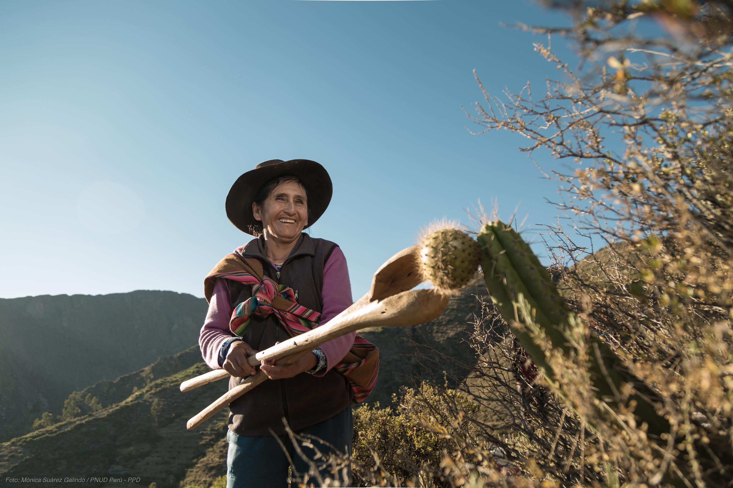 En Perú, una comunidad ubicada por encima de los 3000 metros de altura apuesta por el rescate del sancayo. Foto: Mónica Suárez Galindo / PNUD Perú – PPD.