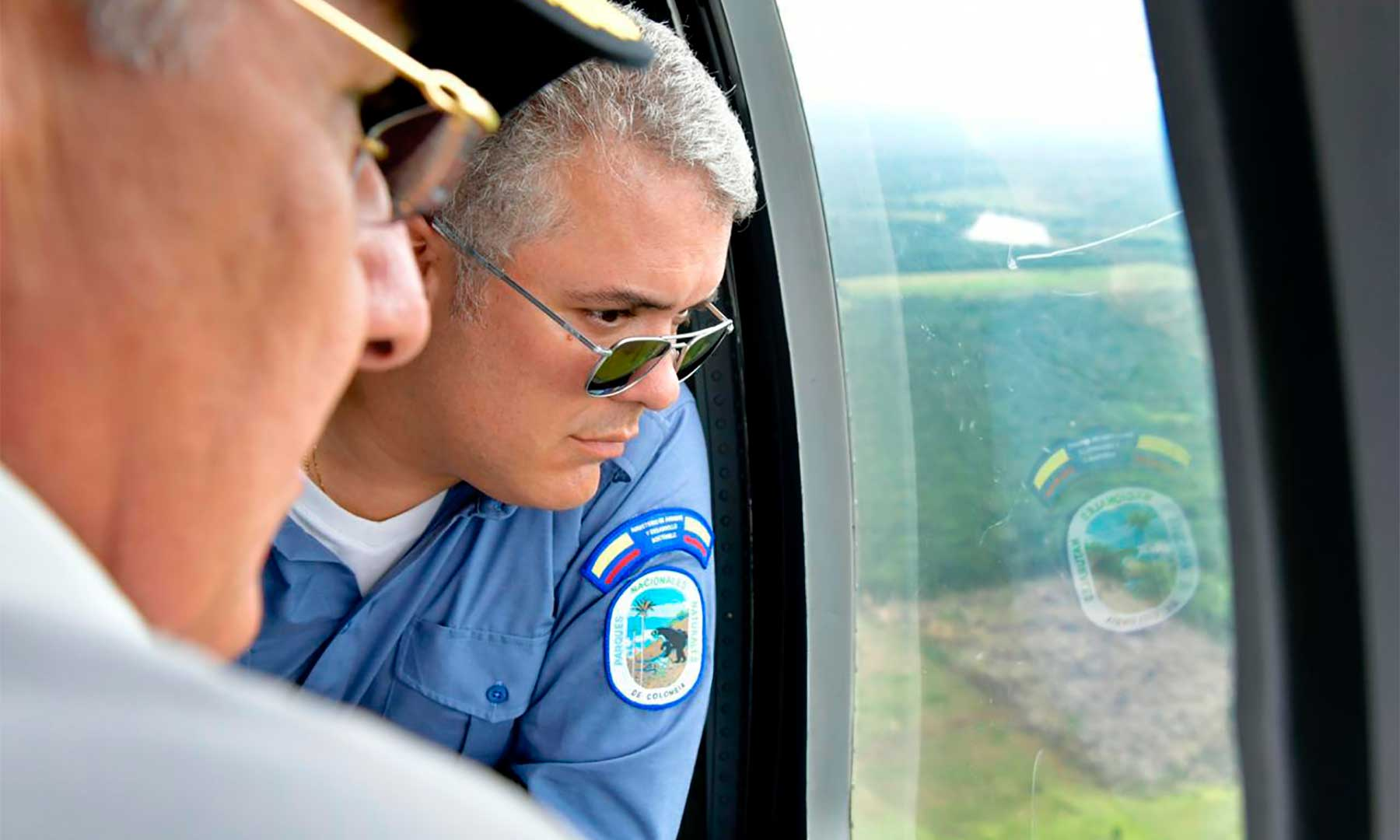 El Presidente Iván Duque sobrevoló el 28 de abril la Serranía de Chiribiquete antes de oficializar el lanzamiento de la Campaña 'Artemisa', para combatir la deforestación. Foto: Efraín Herrera - Presidencia de Colombia.