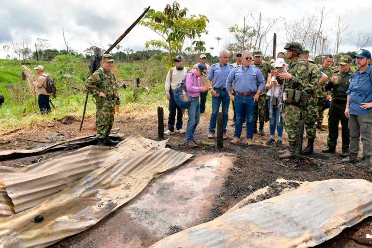 El Presidente Iván Duque explicó que restaurar las 120 hectáreas recuperadas en la Serranía de Chiribiquete, puede remover 22 mil toneladas de CO2 de la atmósfera en 8 años. Foto: Efraín Herrera - Presidencia de Colombia.