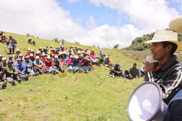 En Hualgayoc, Perú, actualmente se protesta por problemas ambientales. Foto: Agencia Andina.