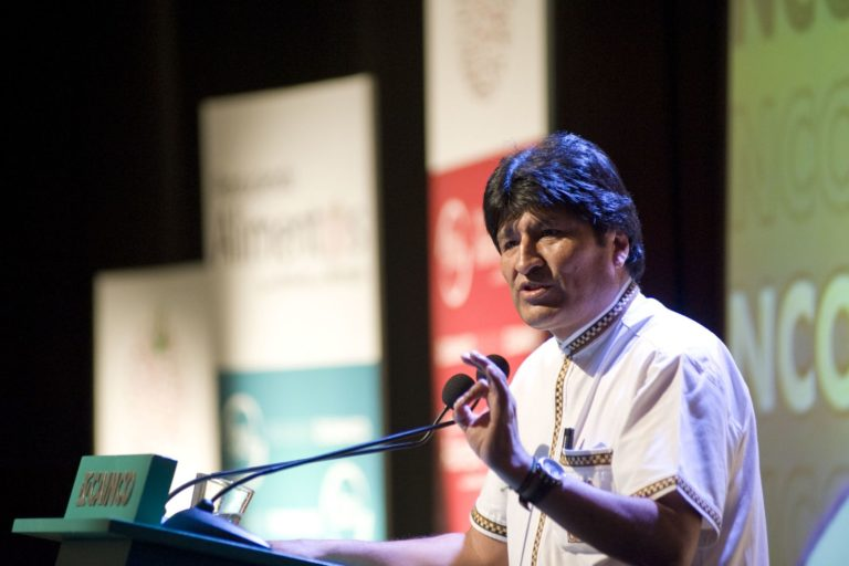 desafíos Bolivia 2019 Evo Morales renunció a la presidencia el 10 de noviembre de 2019. Foto: Agencia Andina.