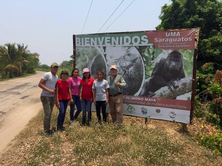 El proyecto de la UMA Saraguatos atrae a estudiantes voluntarios e investigadores. Foto: cortesía UMA Saraguatos.