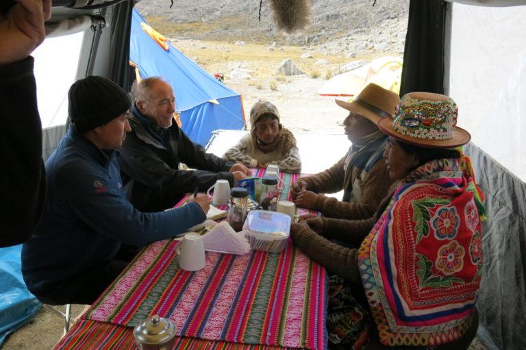 Lonnie Thompson en su última expedición al Quelcaya, en Cusco. Foto: Lonnie Thompson.