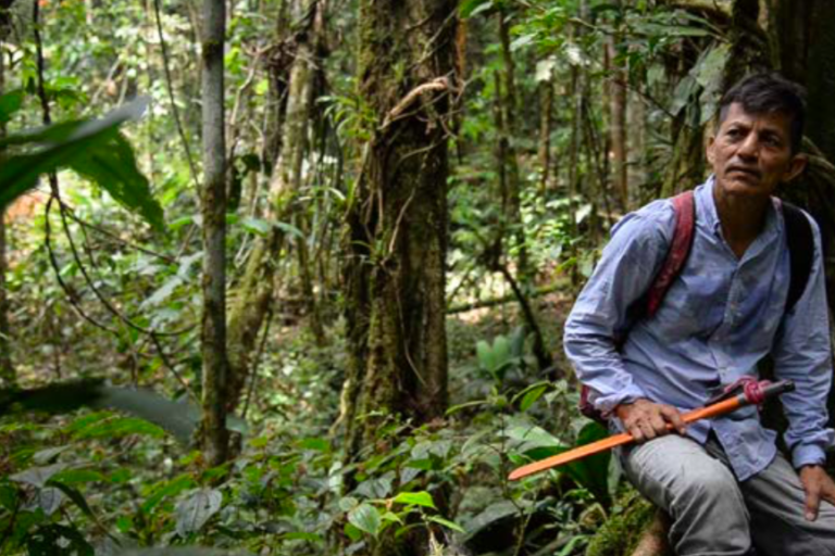 Uno de los campesinos estafados por intermediarios en la Amazonía colombiana. Foto: EIA.