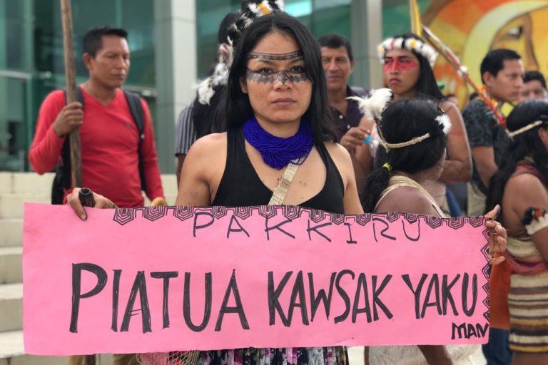 Marcha de indígenas Kichwa. Foto: Centro de Derechos Humanos PUCE.