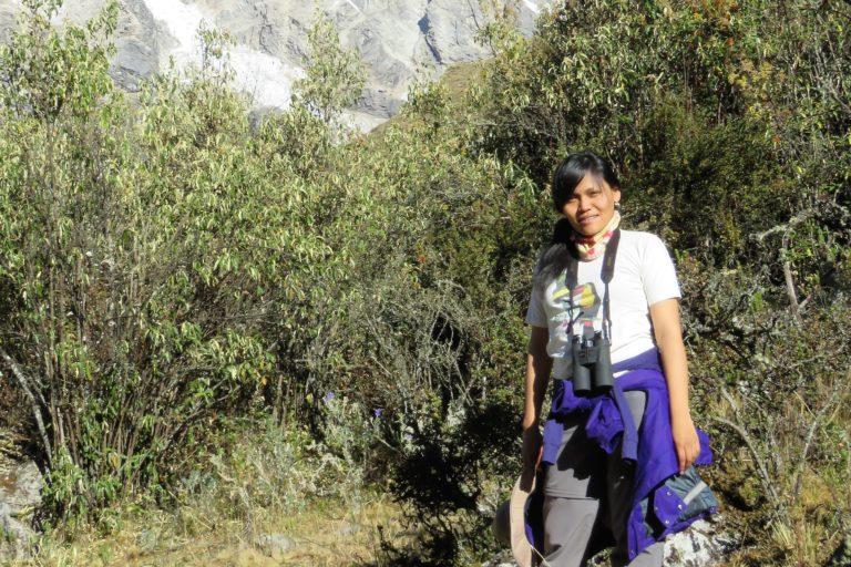 La bióloga Jessica Pisconte ha sido voluntaria en varias áreas naturales protegidas del Perú. Foto: Archivo personal.