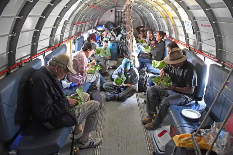 Apaporis Colombia. Investigadores de la expedición Bio Apaporis. Foto: Instituto SINCHI.