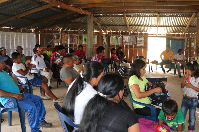 Territorios indígenas de conservación. Reunión para el análisis de los territorios indígenas. Foto: Luisa Fernanda Ortiz - WWF Colombia.