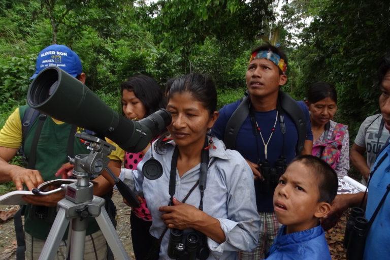 Día de los Pueblos Indígenas El pueblo waorani de Gareno apuesta por el desarrollo del aviturismo. Foto: EcoCiencia.