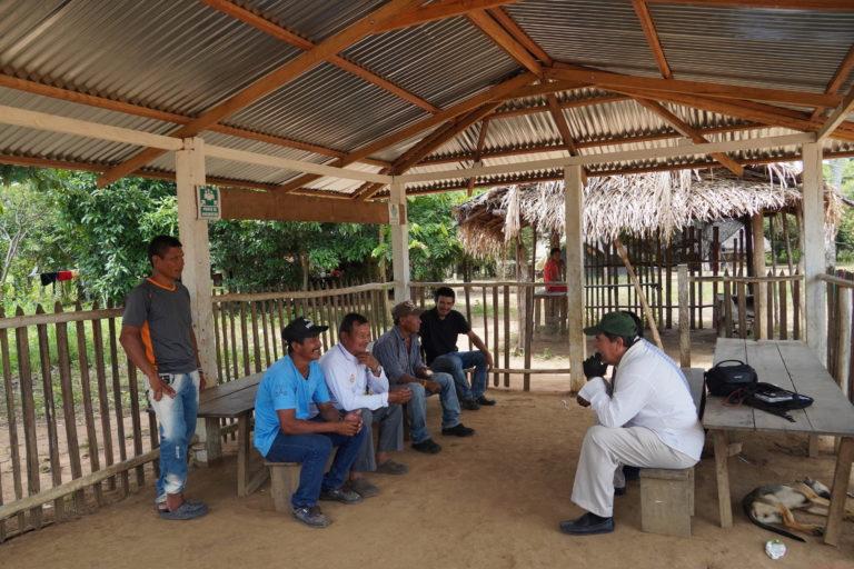 Indígenas guayaberos Guaviare. La Defensoría del Pueblo ha dicho que la situación de seguridad de los indígenas Jiw es bastante delicada. Foto: María Fernanda Lizcano.