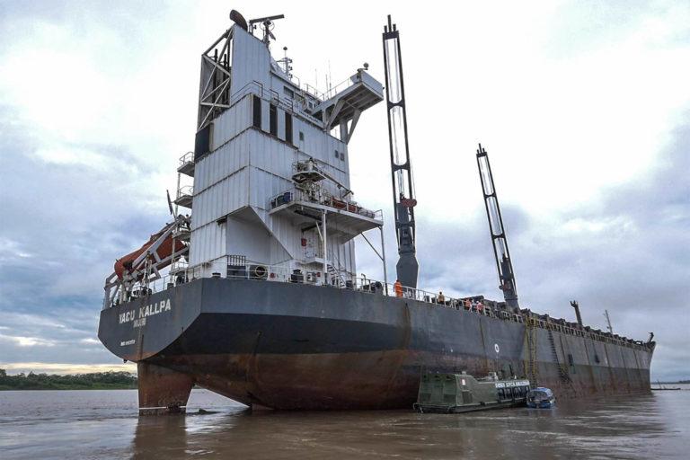 La embarcación Yacu Kallpa fue detenida en Loreto como parte de la Operación Amazonas del año 2015. Foto: EIA.