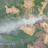 Imágenes satelitales de incendios forestales en Mato Grosso, Brasil. Imagen de Planet Labs Inc.