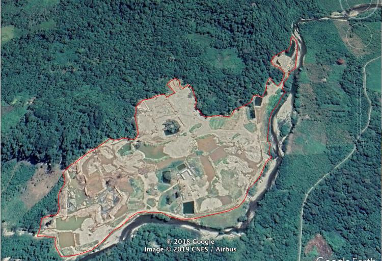 minería en Puerto Inca Google Earth permite ver la devastación causada por la minería de oro en la zona de amortiguamiento de El Sira.