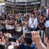Hidroeléctrica en Pastaza. Indígenas Kichwa y Waorani en marcha por defensa de la Amazonía. Foto: Amazon Frontlines.