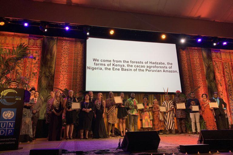 Ganadores del Premio Ecuatorial 2019 durante la ceremonia realizada en Nueva York. Foto: Kemito Ene.