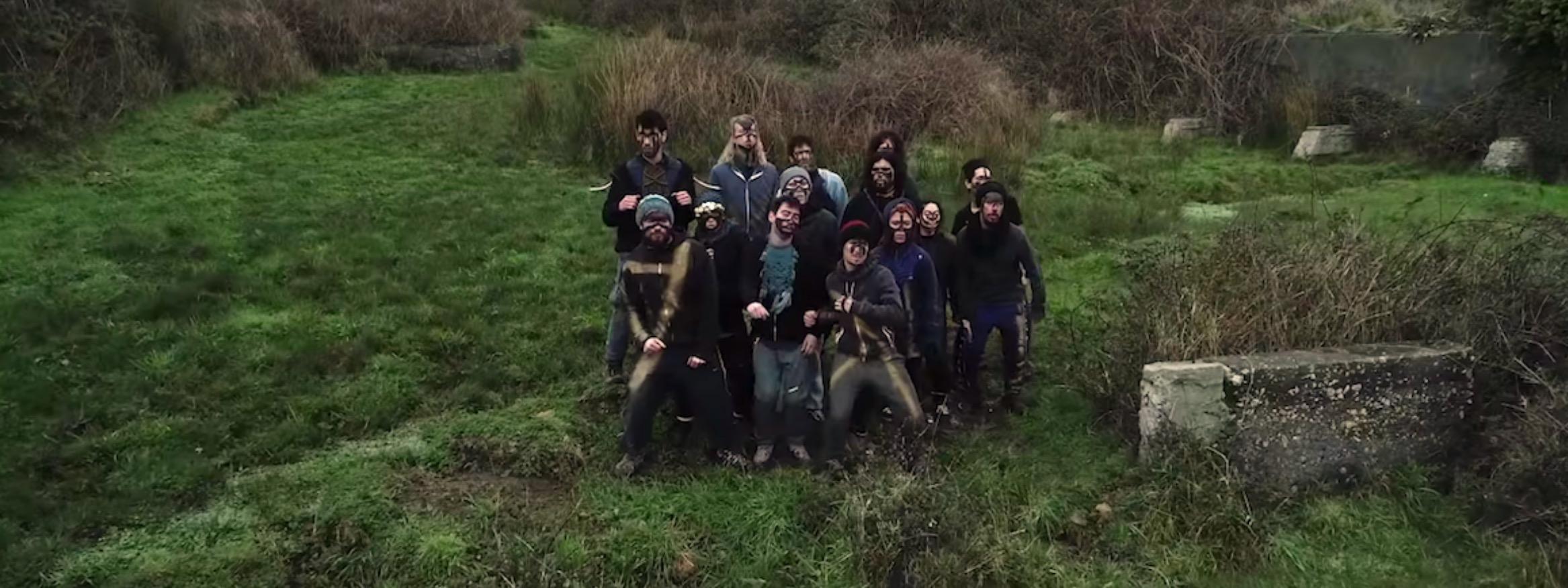 La banda durante el rodaje del video Chaltumay, imagen de Alejandro Espinoza y Marcela Toledo