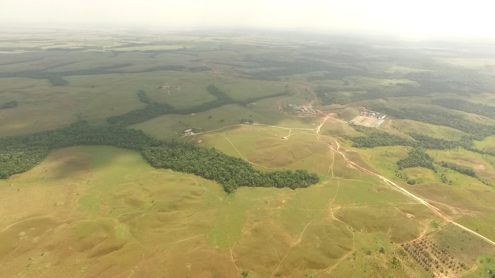 Palma de aceite en Colombia. Vista aérea de Campo Rubiales. Foto: Álvaro Avendaño.