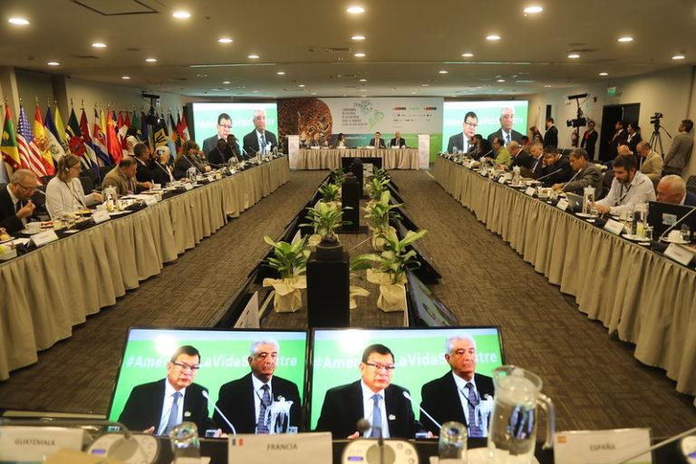 Veinte países que asistieron a la primera Conferencia de Alto Nivel de las Américas sobre el Comercio Ilegal de Vida Silvestre firmaron la Declaración de Lima. Foto: Ministerio de Agricultura.