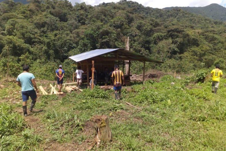 Coordillera del Cóndor. Comunidades nativas denunciaron ingreso de mineros ilegales. Foto: Gladis Tapia.