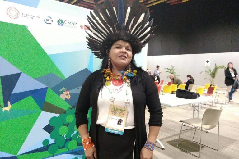 La lideresa brasileña Sonia Guajajara estuvo presente en el III Congreso de Áreas Naturales Protegidas de América LAtina y El Caribe. Foto: Yvette Sierra Praeli.