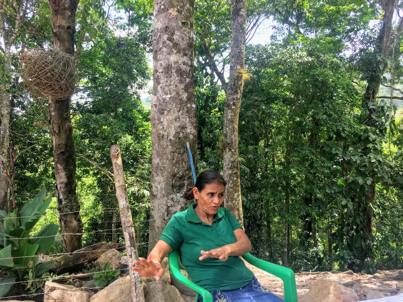 Defensores ambientales Honduras. Rosalina Domínguez ha recibido amenazas de muerte. Foto: Rubén Escobar.