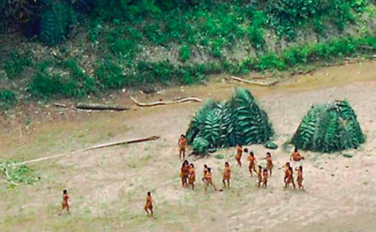 La superposición de concesiones con los territorios de los aislados también representa una amenaza para estos pueblos. Foto: FUNAI.