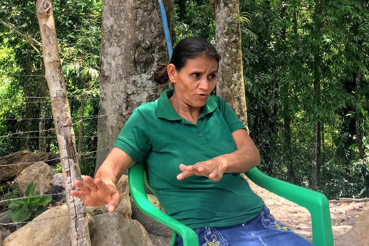Rosalina Domínguez, líder indígena hondureña.
