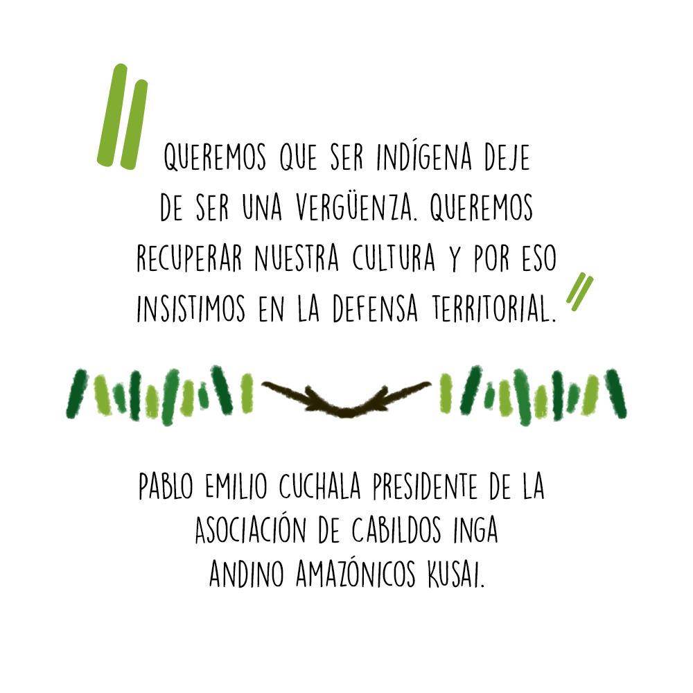 indígenas inga petróleo