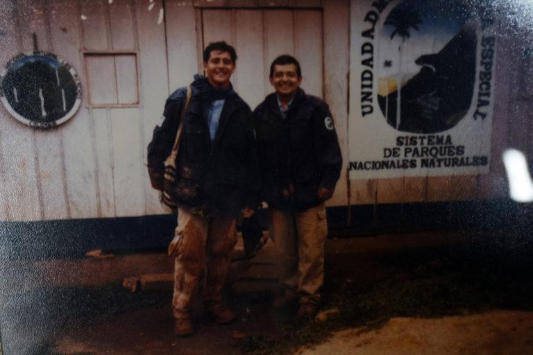 Martín Duarte (derecha) fue asesinado luego de presenció el secuestro de una mujer en el Parque Sierra de La Macarena. Foto: Cortesía familia Duarte Acero.
