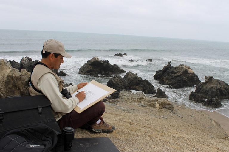 Óscar Vilca en la Zona Reservada Illescas. Foto: Archivo personal.