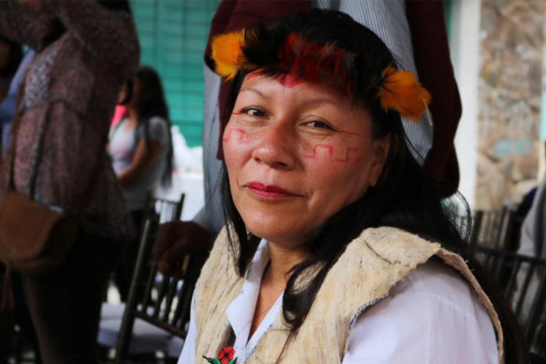 Nema Grefa, presidenta del pueblo sapara de Ecuador. Foto: Yanda Montahuano.
