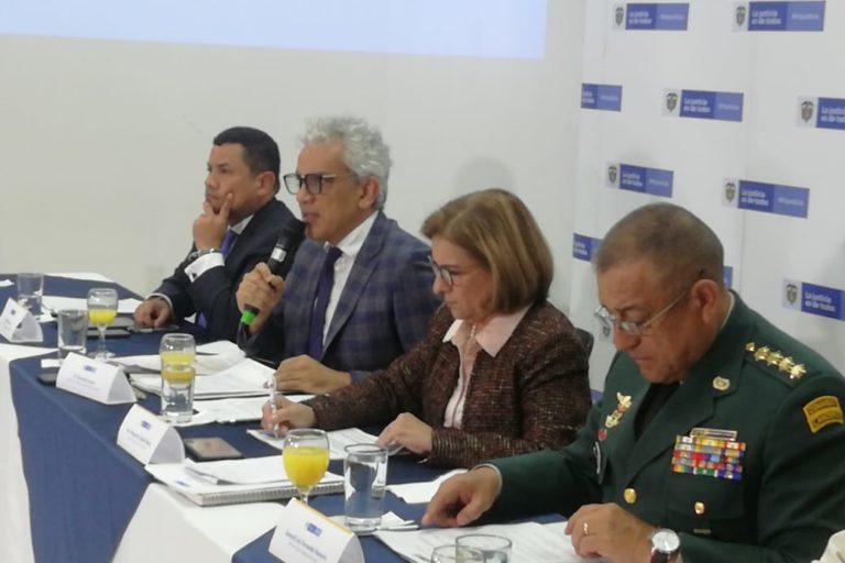 El gobierno colombiano anunció el decreto para aspersión aérea en rueda de prensa el 30 de diciembre de 2019. Foto: Ministerio de Ambiente de Colombia.
