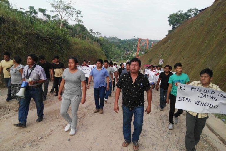 Cordillera del Cóndor Pueblos indígenas awajún y wampis anuncian que continuarán con las protestas iniciadas el 10 de febrero. Foto: Odecofroc.