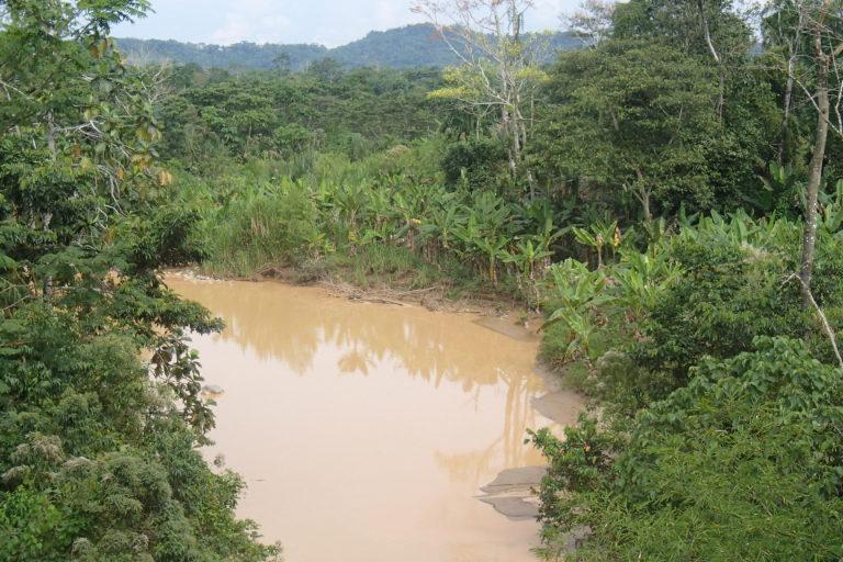 Minería de río. La empresa minera Terraearth Resources S.A solo tiene licencia ambiental en la concesión minera Regina 1S. Foto: Cortesía GK.