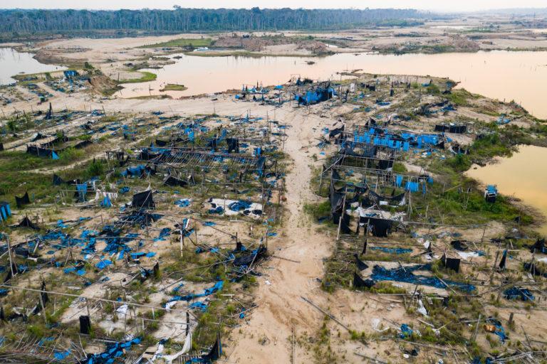 Vista panorámica del sector Balata, en La Pampa, luego de la Operación Mercurio 2019. Foto: Jason Houston / CINCIA WFU.