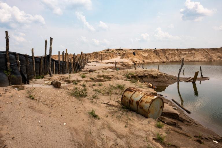 Deforestación en La Pampa causada por más de una década de minería ilegal. Foto: Jason Houston / CINCIA WFU.