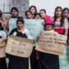 Mineras en áreas naturales protegidas. Mujeres protestando contra el Proyecto minero Río Magdalena. Cortesía de DAN Fotografía.