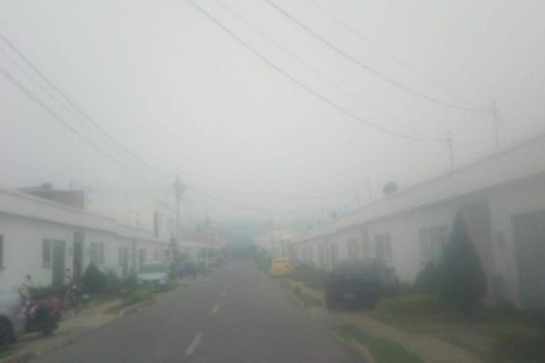 Calidad del aire y coronavirus. Barrio de Cúcuta el 1 de abril. Foto: Twitter.