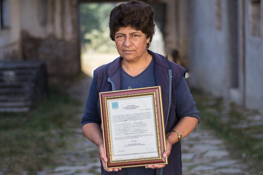 Presidenta del comisariado del Ejido Cruz de Ocote, Puebla, México. Foto: Marlene Martínez