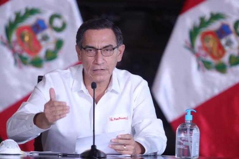 El presidente Martín Vizcarra informa todos los días sobre el avance del COVID-19. Foto: Agencia Andina.