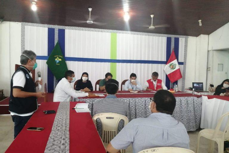 Reunión multisectorial en Loreto para atender la emergencia por COVID 19. Foto: Gobierno Regional.