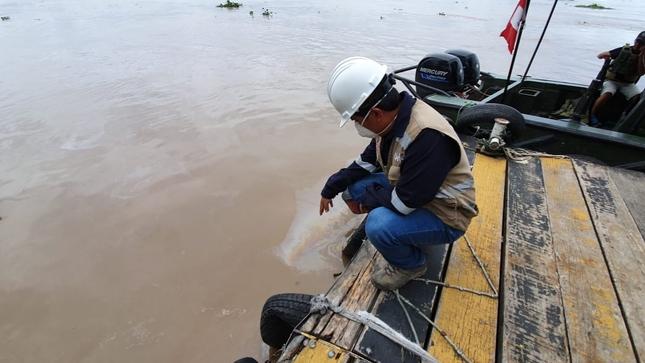 Un derrame en la Refinería de Iquitos ocurrió el 8 de abril. Foto: OEFA.
