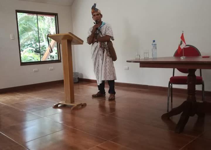El jefe de la comunidad nativa Unipacuyacu, Arbildo Meléndez, reclamaba la titulación de su territorio. Foto: Aidesep.