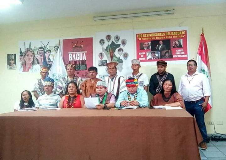 Líderes indígenas exigen que se investigue el asesinato de Arbildo Meléndez. Foto: Aidesep.