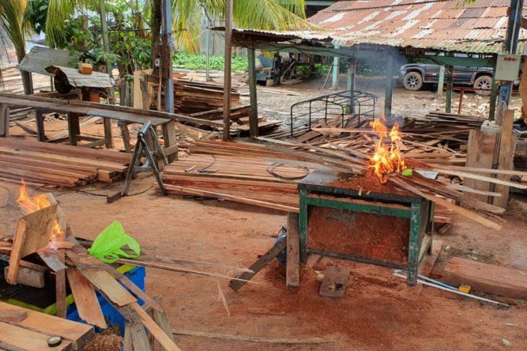 Fiscales realizaron operativos en aserraderos de Ucayali. Foto: FEMA Ucayali.