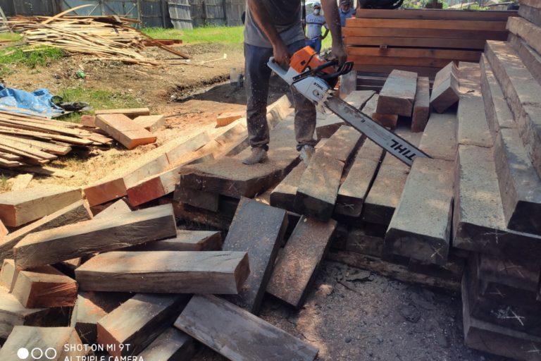Tras los operativos los fiscales inmovilizaron la madera. Foto: FEMA Ucayali.