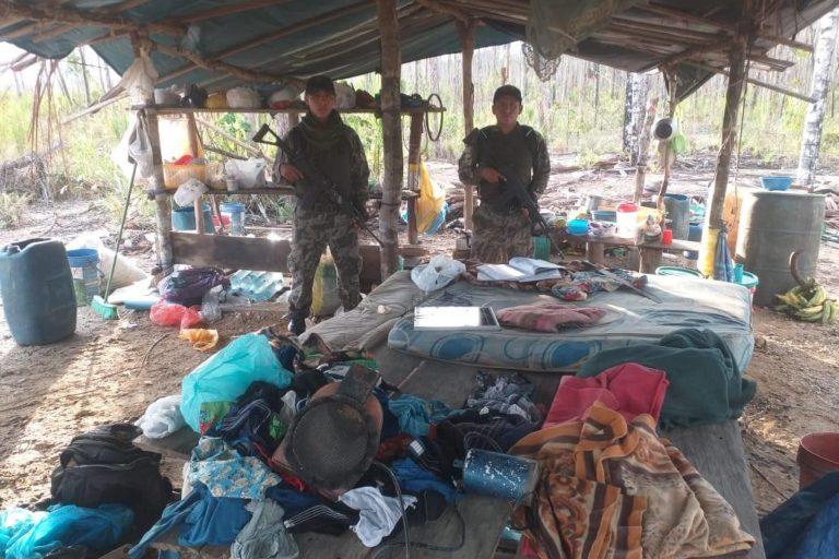 Durante los operativos en La Pampa se incautó gran cantidad de insumos. Foto: FEMA Madre de Dios.