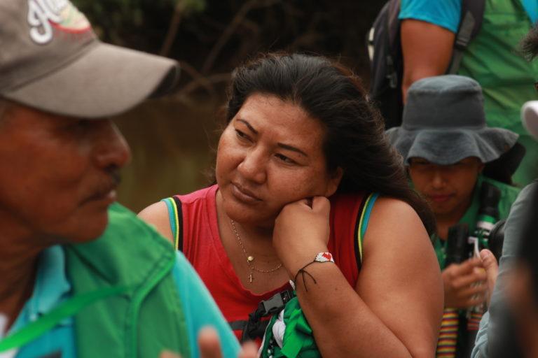 Indígenas siona en peligro. Martha Liliana Piaguaje tiene 35 años y es gobernadora del resguardo Santa Cruz de Piñuña Blanco desde 2017. Foto: César Rojas Ángel.